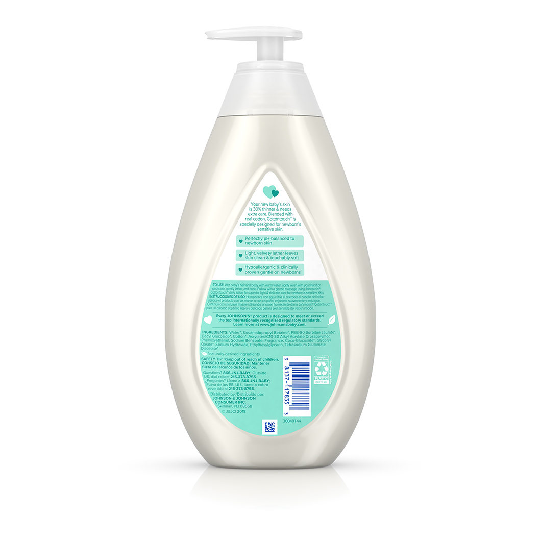 Johnson S 174 Cottontouch 2 In 1 Baby Wash And Shampoo