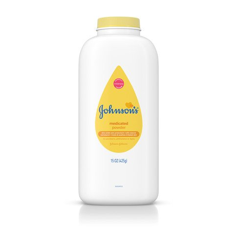 JOHNSON'S® medicated baby powder front