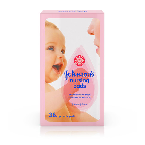 60 ct Johnson/'s Disposable Nursing Pads with Natural Cotton and Natural Contour Shape