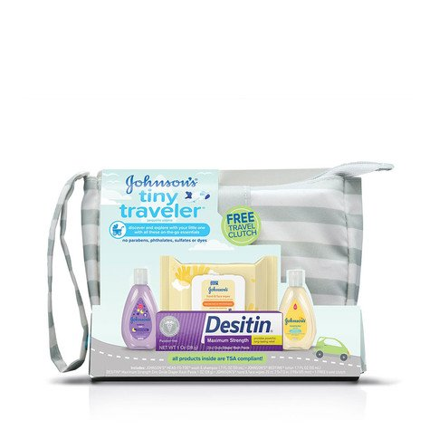 JOHNSON'S® tiny traveler baby gift set front