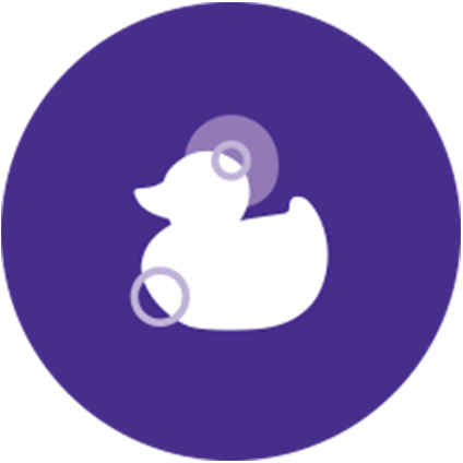 Warm bath duck icon