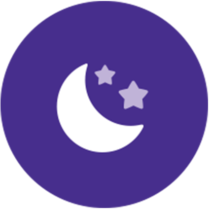 Quiet time moon icon