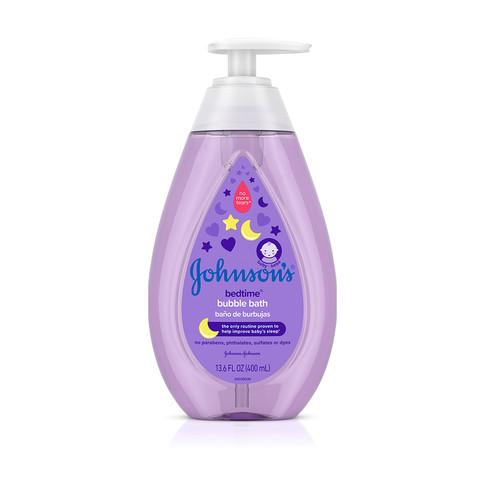 JOHNSON'S® BEDTIME® baby bubble bath front