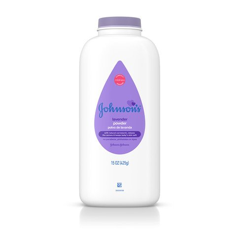 JOHNSON'S® lavender baby powder front
