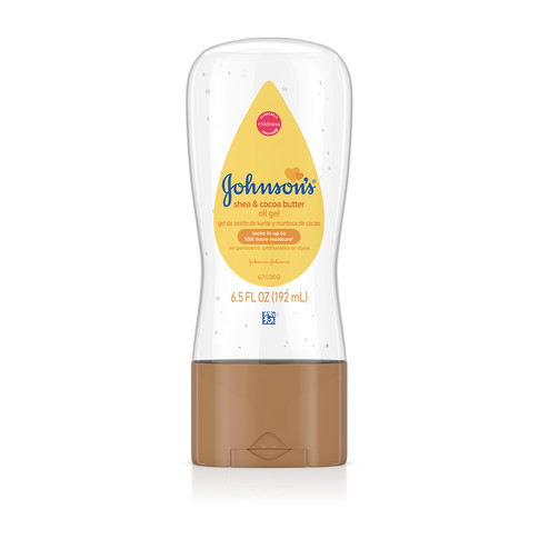 JOHNSON'S® shea cocoa butter baby oil gel front