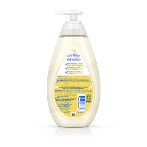 JOHNSON'S® skin nourish shea cocoa butter baby wash ingredients