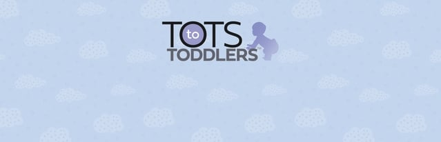 Tots To Toddlers Logo with Clouds in the Background