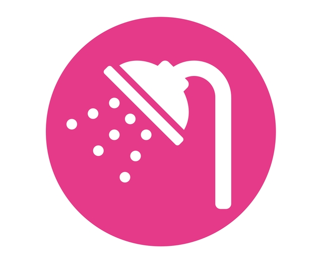 toddler hair care shower icon