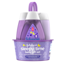 JOHNSON'S® sleepy time baby gift set front