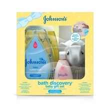 JOHNSON'S® bath discovery baby gift set front