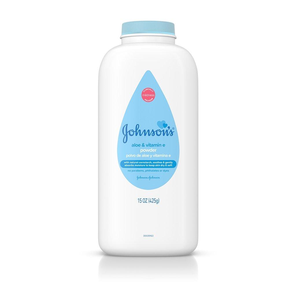JOHNSON'S® aloe vitamin e baby powder front