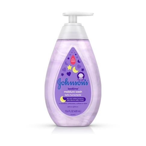 JOHNSON'S® BEDTIME® baby moisture wash front