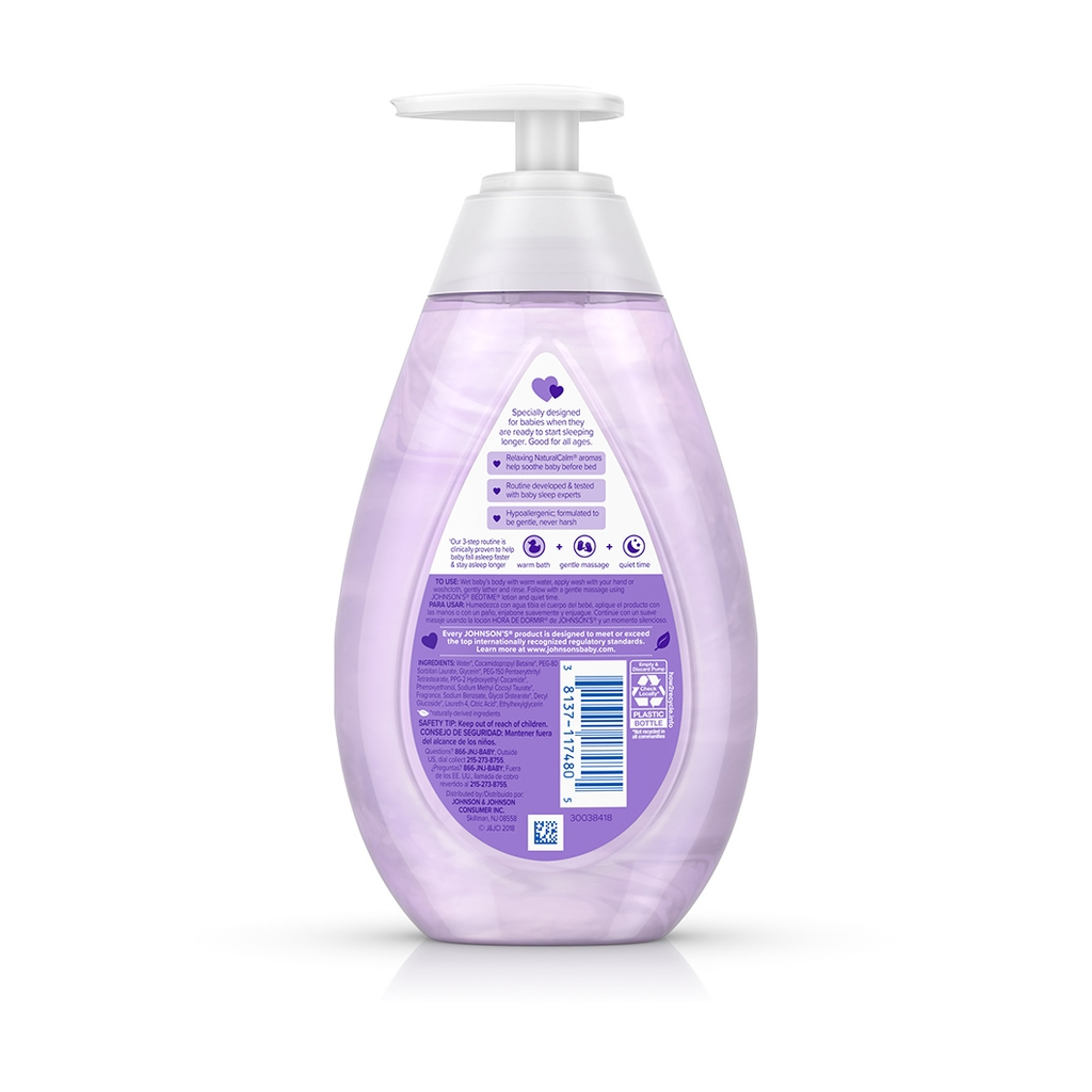 JOHNSON'S® BEDTIME® baby moisture wash ingredients