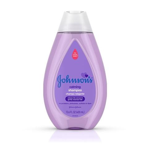 JOHNSON'S® calming baby shampoo front