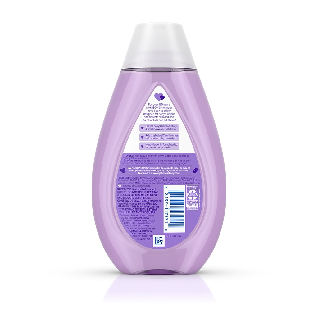 JOHNSON'S® calming baby shampoo ingredients