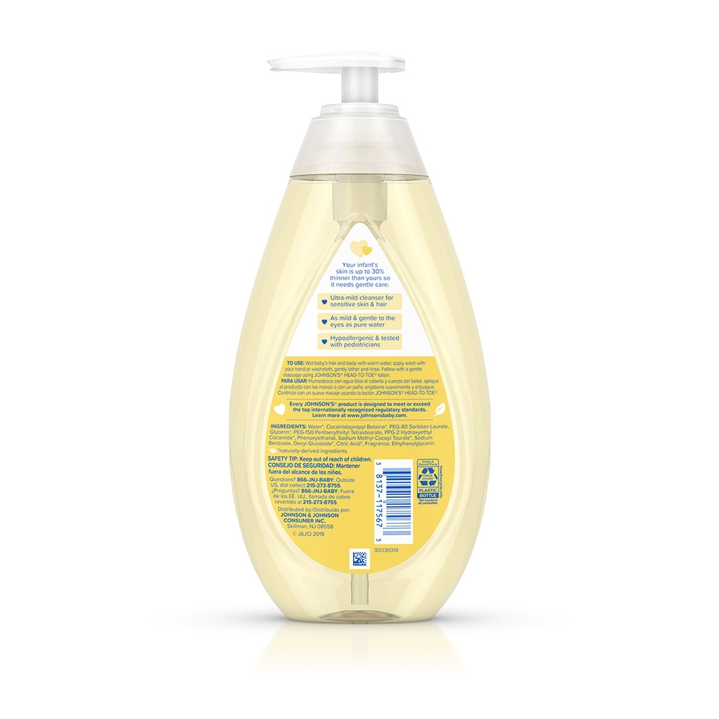 JOHNSON'S® HEAD-TO-TOE® baby wash shampoo ingredients