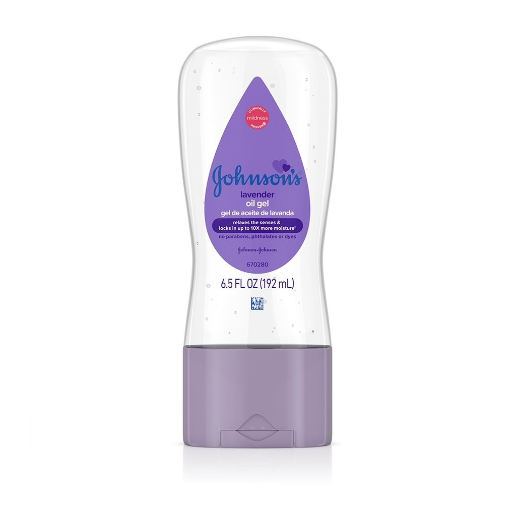 JOHNSON'S® lavender baby oil gel front