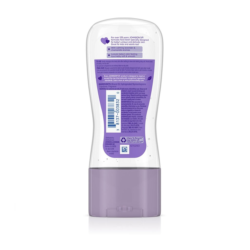 JOHNSON'S® lavender baby oil gel ingredients