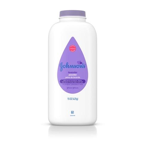 JOHNSON'S® lavender baby powder front