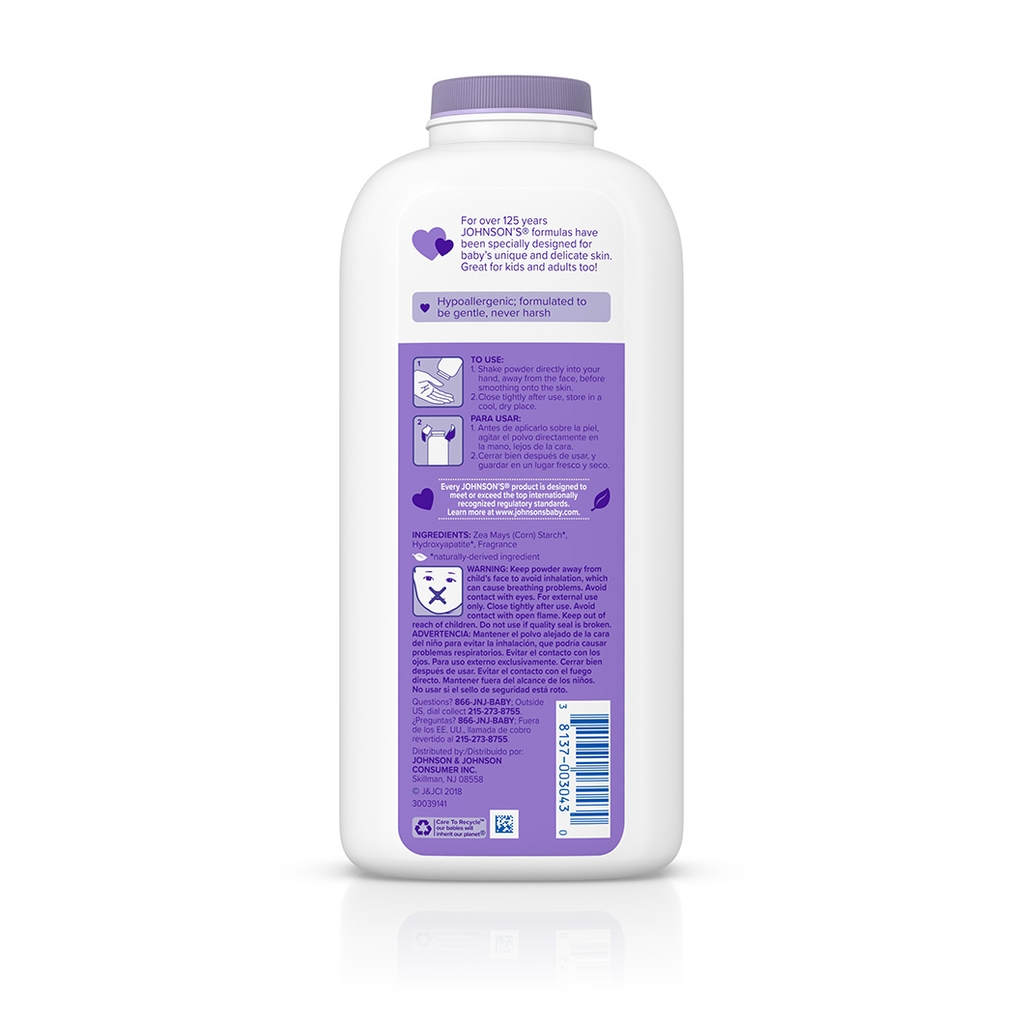 JOHNSON'S® lavender baby powder ingredients