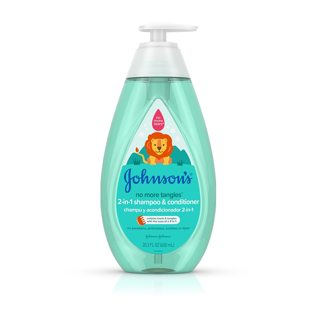 johnson s no more tangles 2 in 1 kids detangling shampoo conditioner