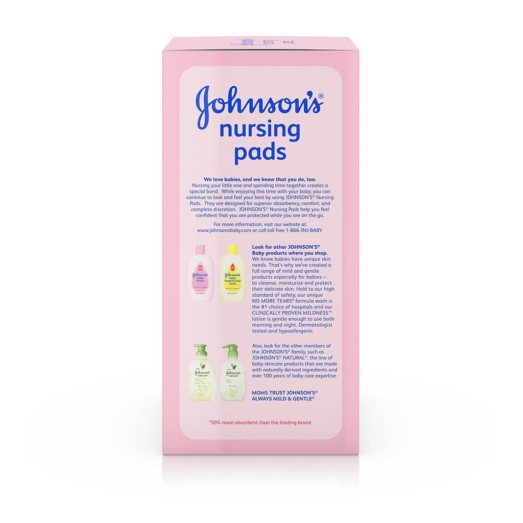 JOHNSON'S® nursing pads ingredients