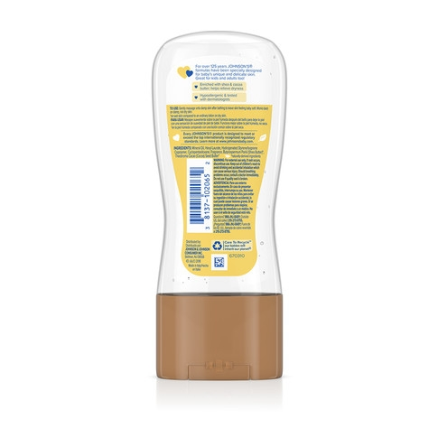 JOHNSON'S® shea cocoa butter baby oil gel ingredients