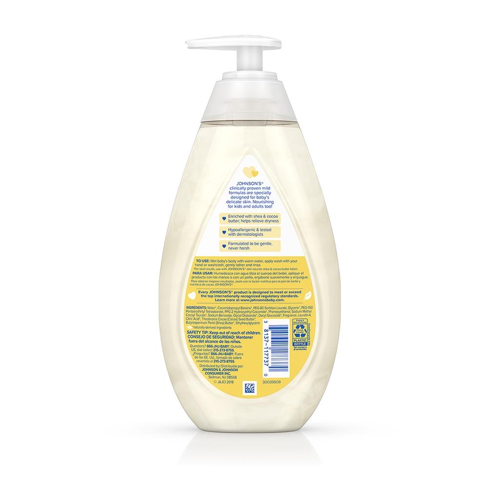 JOHNSON'S® skin nourish shea cocoa butter baby wash ingredients