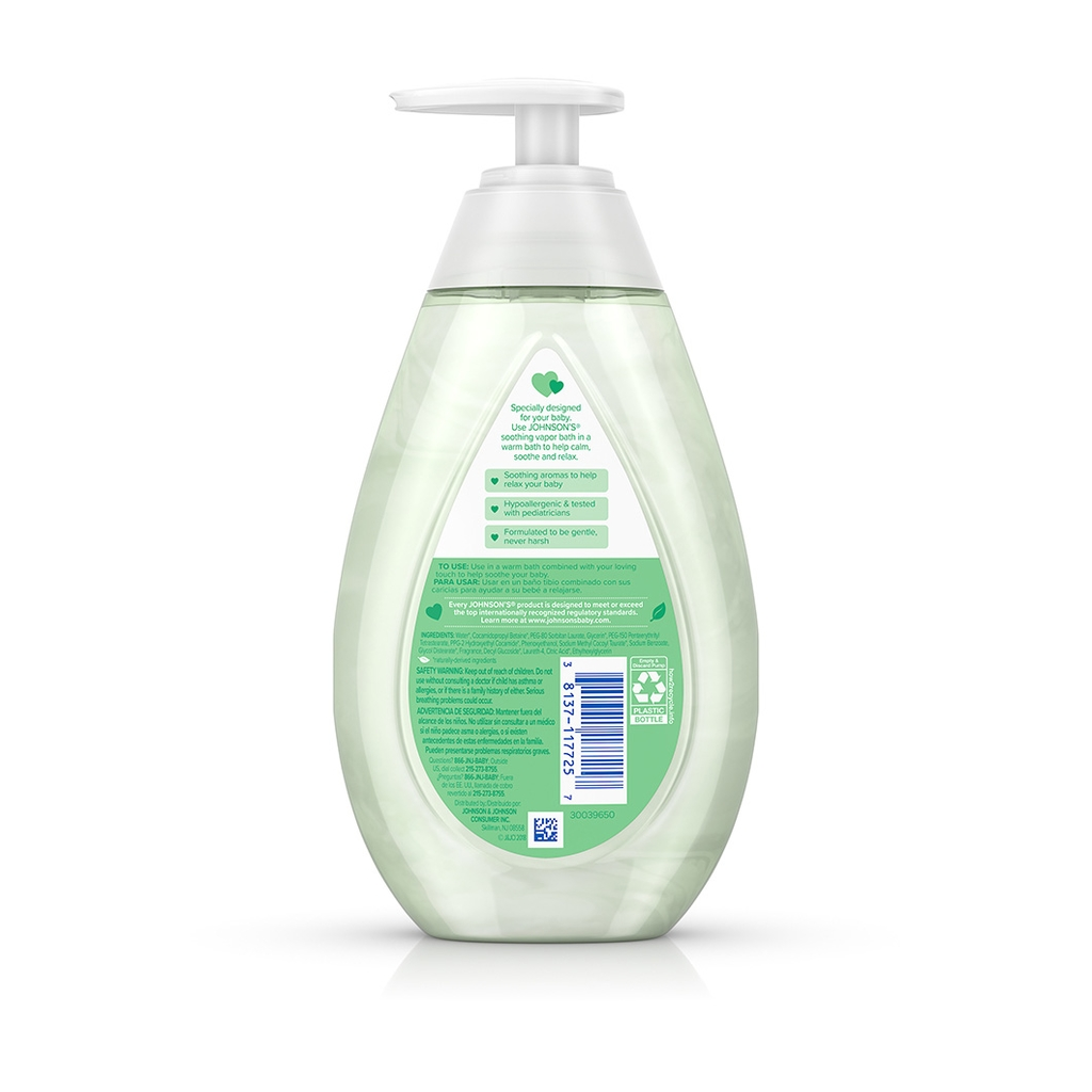 JOHNSON'S® soothing vapor bath ingredients