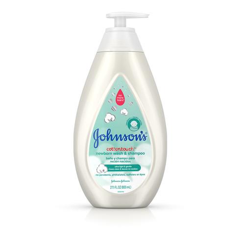 Johnson's® CottonTouch™ Newborn Wash & Shampoo bottle