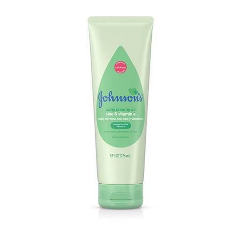 Johnson's® Baby Creamy Oil With Aloe & Vitamin E bottle