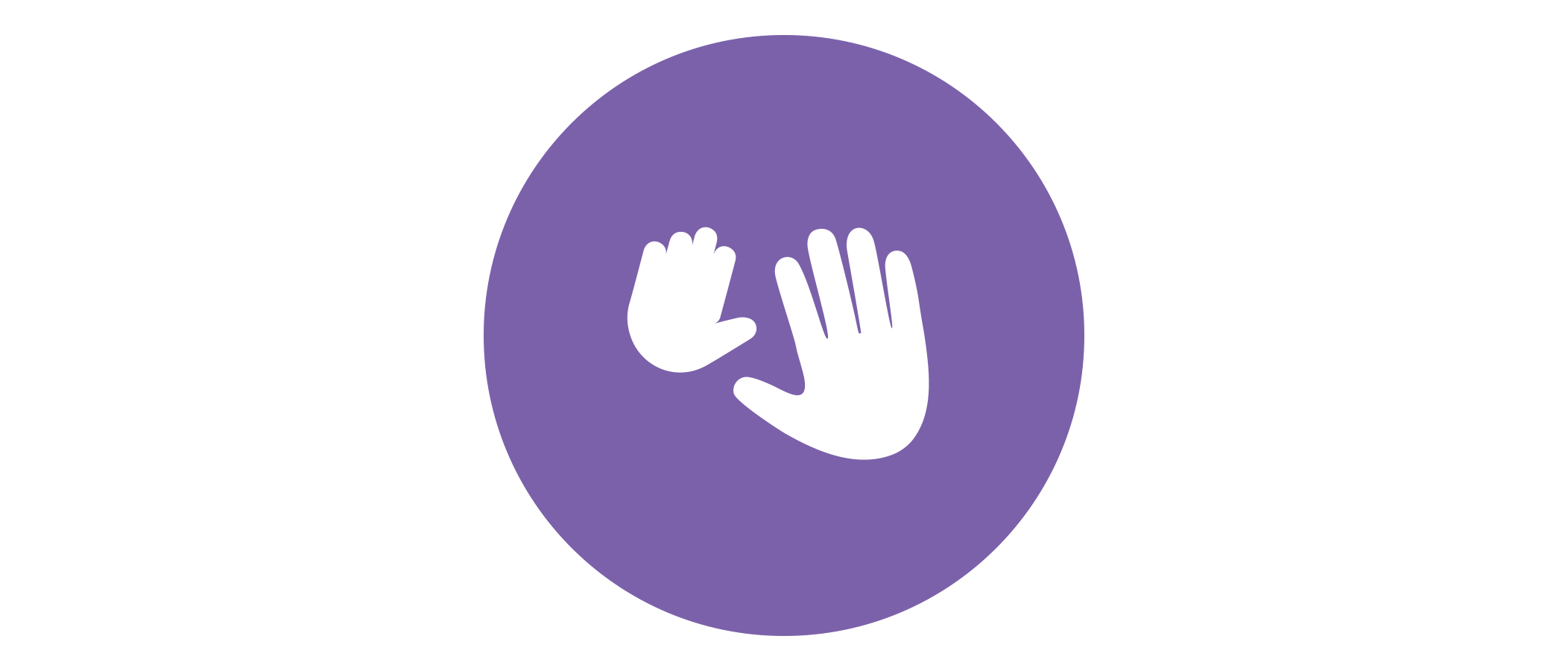 Soothing massage hands icon