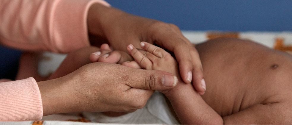 Newborn hand massage